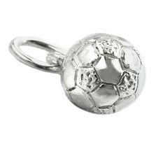Hängsmycke Fotboll 6mm Äkta Silver