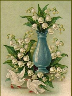 lilies of the valley vase