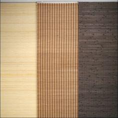 Flächenvorhang - Schiebevorhang - Schiebegardine Holz