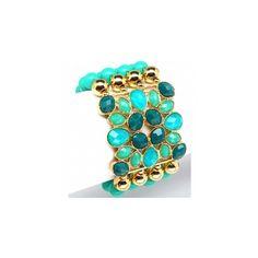 Althea's Boho Style Turquoise Beaded Fashion Bracelet found on Polyvore