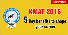 KMAT 2016 has opened the MBA/MCA admission to the candidates coming from all the states in India like U.P., Bihar, Jharkhand, West Bengal, Odisha, North East and other North India states
