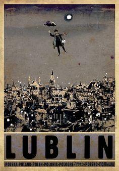 Lublin, Polish Promotion Poster, Ryszard Kaja