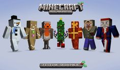 Minecraft Xbox 360 Edition Festive Skin pack on sale news - Mod DB