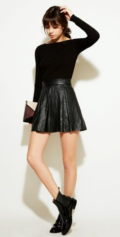 All black - love this, except the clutch and I think I would go for different shoes