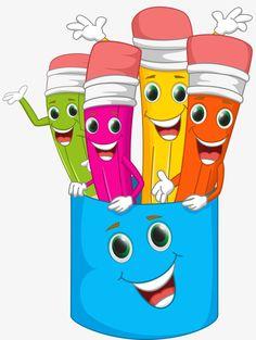 Cartoon pencil PNG and Clipart School Clipart, Clip Art, School Decorations, School Pictures, Cartoon Kids, Funny Cartoons, Classroom Decor, Art School, Bunt