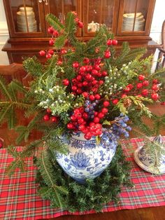 Holiday Home Tour - Preppy Empty Nester F Noel Christmas, Country Christmas, Winter Christmas, All Things Christmas, Christmas Crafts, Christmas Classics, Tartan Christmas, Vintage Christmas, Christmas Ideas