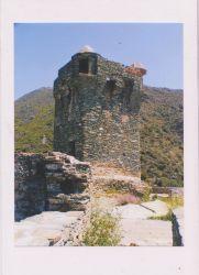 Fotopostkarte-Burg-Turm-auf-Korsika