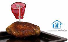 TERMOMETRU CARNE, BUCATARII PROFESIONALE  Accesorii bucatarii profesionale, import Olanda.  Dimensiuni:  85x(H)175 mm; Pentru rezultate perfecte la prajire/coacere; Usor de citit; Termometru bucatarie cu sonda; Varf de metal pentru protejarea termometrului; Unitati de masura ºC sau ºF; Sugereaza temperatura din carne indicand faptul ca aceasta este bine facuta;