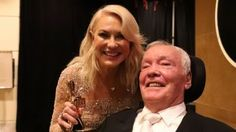 Kerri-Anne and John Kennerley pose with the Hall Of Fame Logie Award.