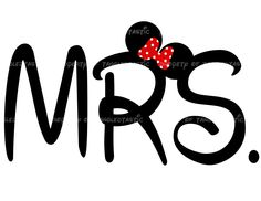 Mrs. Wedding DIY Iron Printable Appliqué Digital Wedding Disney Vacation mickey Mouse Shirt Tote Sweatshirt. $5.00, via Etsy.