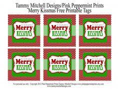 FREEBIE: Free Printable Christmas Tag: We Wish You a Merry Kissmas - Entertain | Fun DIY Party Craft Ideas