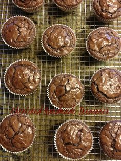 Chocolate Brownie Cupcakes. Brownie mix (It doesn't matter what brand) Follow the directions on the back of the box, except that I increased the eggs to three to make the batter more cake-like. Bake them for about 25 minutes. Just check and make sure they are done before removing them from the oven.