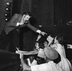 Elvis performing in 1956