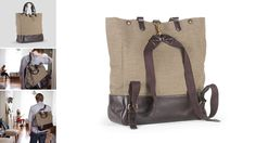 Canvas & Leather Dillon Totepack  By Eayrslee, this would be perfect for work!