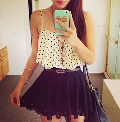 Teen fashion tumblr. I would wear this with a sweater or something to cover my…