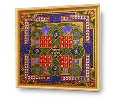 #KAAL_SAAP_YOGA YANTRA #ENERGETISCHE_Kunst von #Art_Heil_Studio #Dr_Mariia_Bohach (#MariRich) #kunst #malerei #regenbogen #jubilaum #muttertag #mandala #yantra #geschenk #geburtstag #meditation #art_therapie Meditation, Mandala, Yoga, Etsy, Vintage, Studio, Frame, Home Decor, Art Therapy