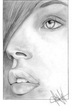 dibujos de rostros a lapiz - Buscar con Google