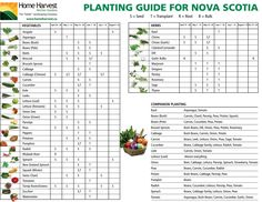 Planting Guide for Nova Scotia