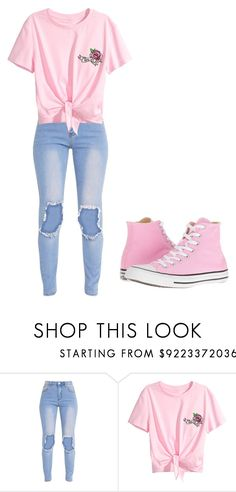 """""""Untitled #329"""" by thenerdyfairy on Polyvore featuring Converse"""