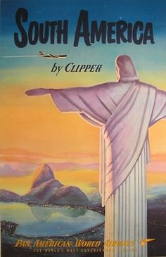 South America Vintage Travel Poster