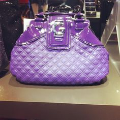 This purse from G by Guess is the perfect pop of color for a casual day. #handbag #purple