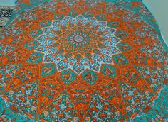 Queen Size indian mandala tapestry wall hanging beach throw home decor bedcover@ #Unbranded #ArtDecoStyle #BedspreadWallHangingHomeDecor