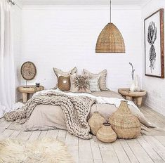 17 Scandinavian Bedroom Designs That Will Thrill You is part of Scandinavian design bedroom - Today we present some beautiful pictures of Scandinavianstyle bedrooms Scandinavian style in the interior is primarily mix of simplicity, functionality Scandinavian Bedroom Decor, Neutral Bedroom Decor, Cozy Bedroom, Summer Bedroom, Modern Bedroom, Natural Bedroom, Bedroom Black, Scandinavian Design, Master Bedroom
