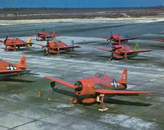 Hellcats converted to drones for use during the Operation Crossroads atomic tests on Bikini Atoll