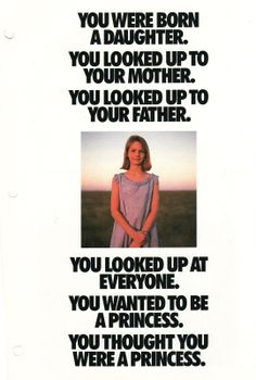You Were Born a Daughter- Page 1 of an 8 page Famous Nike Ad. See all 8 pages on the link to Shoegirlcorner.