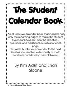 NOW INCLUDES month pages for June and August.  An all inclusive calendar book that includes not only the recording pages to make the Student Calend...