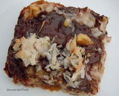 Gourmet Girl Cooks: Absolutely Magical Cookie Bars...check recipe to see where it fits THM