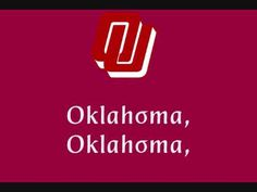 University of Oklahoma Sooners - fight song with words - Boomer Sooner
