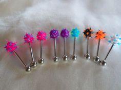 10pcs Bulk Lot Rose Flower Koosh Soft Tickler Silicone Tongue Bar Resale 1