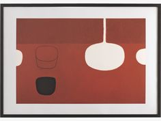 William Scott  Still Life Brown with Black Note 1969.  In this wonderful Still Life painting by William Scott, we can see the radical reduction in form and colour that he developed from the influence of American Abstract Expressionism. Despite this influence, Scott retains the composition of Still Life which was core to his work, savouring the sensuous contours and simple lines. A limited edition print of 100, each individually numbered.