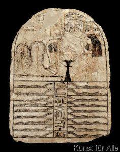 Ägyptische Malerei - Goddess Meresger / Stele / Egyptian