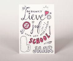 ≡  Bedankt Juf // Leuk om te geven aan het eind van het schooljaar