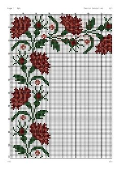 Cross Stitch Borders, Cross Stitch Flowers, Cross Stitching, Cross Stitch Embroidery, Cross Stitch Patterns, Vintage Cross Stitches, Cross Stitch Needles, Christmas Cross, Loom Beading