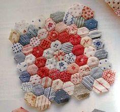 FRIENDSHIP THREADS: Starting a Garden... hexagon quilting from Quilts Japan magazine