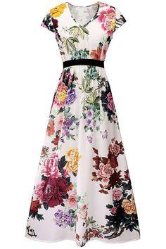 Cupshe Lovely Landscape Floral Maxi Dress