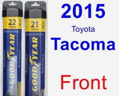 Front Wiper Blade Pack for 2015 Toyota Tacoma - Assurance