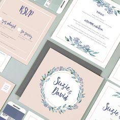 'Suzie' wedding invitation collection