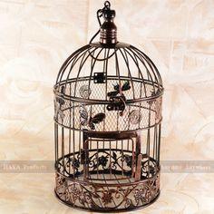 Schmetterlings-Hochzeits Dekoriert Vogelkäfige Garden Dekorative Birdcage