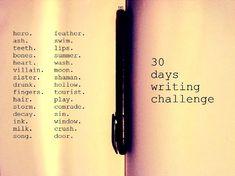 30 days writing challenge