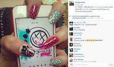 Shake & Paint: The Blink-182 Effect #blink182 #nailart #nailporn #nails #manicure #nailsnailsnails #untitled #blinkbrixton #bbloggers