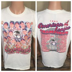 1997 Cleveland Indians tshirt // Vintage by VintageCLE216 on Etsy