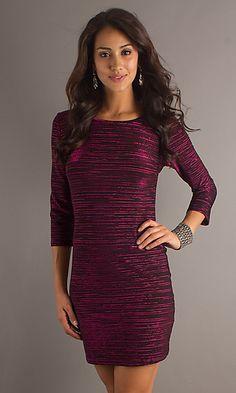 Short 3/4 Length Sleeve Dress 1773L at SimplyDresses.com