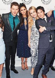 Joseph Morgan, Nina Dobrev, Claire Holt, and Ian Somerhalder at PaleyFest 2014 {by Paria}