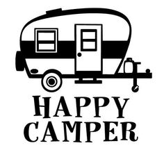 Buy 2 Get 1 Free! Digital Clipart Camper Silhouettes