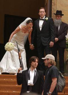 Jared Leto , Bridget Moynahan and Nicolas Cage (making of ''LORD OF WAR'')