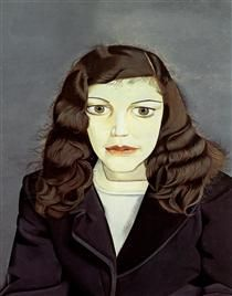 Girl in a Dark Jacket - Lucian Freud